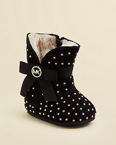 My granddaughter needs these for fall! MICHAEL Michael Kors Infant Girls' Grace Studded Boot - Baby | Bloomingdale's