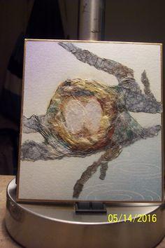 Washi Chigiri-e: Hummingbird nest