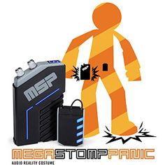 ThinkGeek :: Mega Stomp Panic - Audio Reality Costume. Clip it on and you can sound like a robot, a zombie, a pirate, even an 8-bit gaming hero! So cool! $39.99 Robot Costumes, Halloween Costumes, Presents For Men, Geek Out, 8 Bit, Halloween Sounds, Halloween 2013, Stocking Stuffers, Geek Games