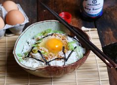 Japanese Breakfast Rice Bowl (Tamago Rohan) via @EnduranceZone1