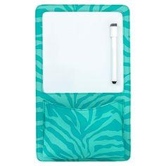 Gear-Up Pool Tonal Zebra Dry Erase Pocket #pbteen