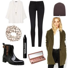 OneOutfitPerDay 2016-11-09 - #ootd #outfit #fashion #oneoutfitperday #fashionblogger #fashionbloggerde #frauenoutfit #herbstoutfit - Frauen Outfit Herbst Outfit Outfit des Tages Winter Outfit ASOS ASOS Petite beige Bluse Cap Friendly Hunting Gummistiefel Jeans Lippenstift Mango Mantel ManuMar NYX Pepe Pepe Jeans Poncho Schal Schwarz Skinny Tommy Hilfiger Urban Decay Violeta by Mango