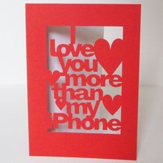 I think I'll make this for hubby for Valentines Day!! haha ... I love you more than Pinterest