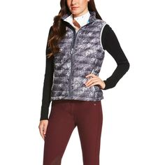 Ariat Ladies Ideal Down Vest - Fur Print