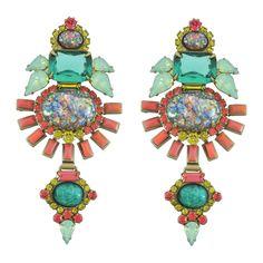 Elizabeth Cole Vintage Fire Opal Earrings