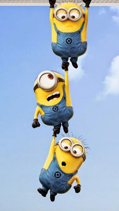 Funny Minions iPhone wallpaper. Download free: https://1papeldeparedegratis.blogspot.com.br/2015/03/minion-retina-iphone-hd-wallpaper.html