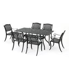 Outdoor Dining Set, Patio Dining, Outdoor Living, Outdoor Decor, Dining Sets, Gazebo, Pergola, Aluminum Patio, Dining Arm Chair