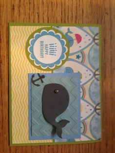 Boys birthday card Stampin Up