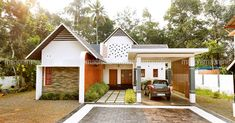 3 Bedroom Single Storeyed Low Cost Home Design, Low Cost Housing Special, 3 Bedroom Low Cost Home Design Single Floor House Design, House Roof Design, Best Modern House Design, House Design Photos, Model House Plan, New House Plans, Dream House Plans, Home Exterior Makeover, Kerala House Design