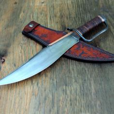 Copper Back Musso Bowie - Wildertools by Rick Marchand Trench Knife, Engraved Pocket Knives, Best Pocket Knife, Custom Choppers, Knife Art, Hard Metal, Le Far West, Motorcycle Style, Knife Sharpening