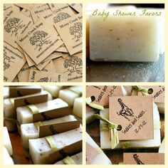 Natural Eco Baby Shower Favor Soaps set of 25 by MossyCreekSoaps, $60.00
