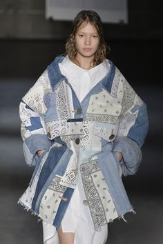 More patchwork denim showing up at #NYFW  #MBFW #SS15 by @margiela
