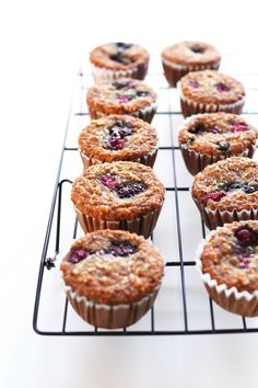 1 Bowl Vegan Gluten Free Berry Coconut Muffins! Healthy, easy and So moist and delicious! #vegan #glutenfree #breakfast