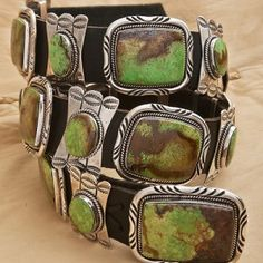 Esther Wood Sterling Silver Concho Belt