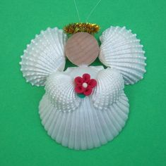 Seashell Angel Ornament Home Decor by OceansofShells on Etsy, $12.00