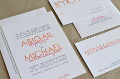 Abigail Wedding Invitation Sample by simplicitypapers on Etsy, $4.00
