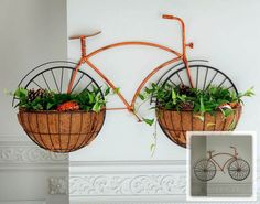 Bicicleta vom vasos para plantas