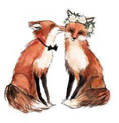 would be adorable for the invitations. But I'd have to add a Mason fox of course