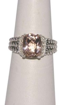 DAVID YURMAN Petite Wheaton Morganite and Diamonds Ring / Size 7 LIKE NEW. Get the lowest price on DAVID YURMAN Petite Wheaton Morganite and Diamonds Ring / Size 7 LIKE NEW and other fabulous designer clothing and accessories! Shop Tradesy now