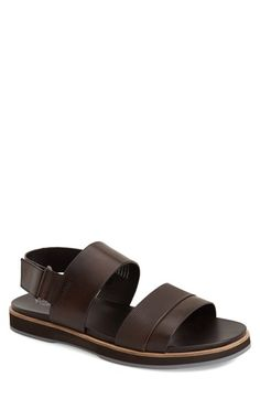 9c32f7da66f Calvin Klein  Dex  Embossed Leather Sandal (Men) Calvin Klein