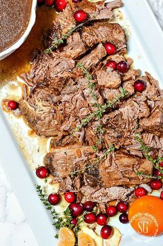 HOLIDAY BEEF BRISKET- A scrumptious, slow cooker. make ahead, Christmas main course.
