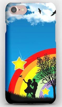 iPhone 7 Case Dance, People, Rainbow, Nature