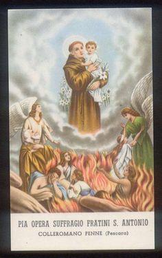 Antonio e le Anime sante Purgatory Prayer, St Anthony Prayer, Special Prayers, Madonna, Catholic, Anime, Faith, God, Google