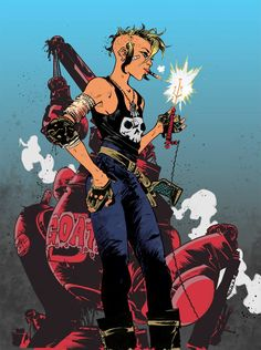 eXpertComics offers a wide choice of Titan Comics products, like the Tank Girl - Two Girls One Tank Visit eXpertComics' website to discover thousands of collectibles. Jamie Hewlett, Tank Girl Cosplay, Comic Book Characters, Comic Books, Tank Girl Comic, Arte Cyberpunk, Bd Comics, Girls Rules, Two Girls