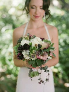 love the blackberries in the bouquet.