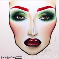 CASSIEMUA ••• Poison Ivy Face Chart Recreation