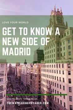 Looking to get off the beaten path in Madrid? Here were some of my favorite non-touristy activities when I was there! Travel Guides, Travel Tips, Madrid Travel, Amazing Street Art, Urban Architecture, Bucket List Destinations, Cool Cafe, Spain Travel, Getting To Know