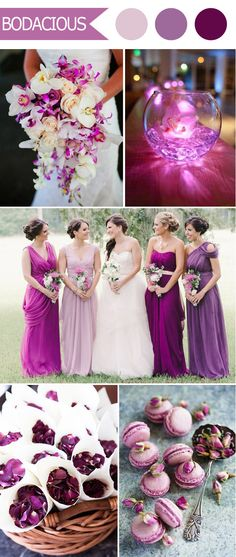 shades of purple fall wedding color schemes for 2016 trends