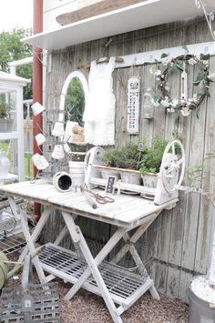 Garden potting table al in white