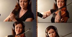 Sweet Child O' Mine sendo muito bem executada com 4 violinos