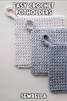 These easy crochet potholders are a quick and easy project for your home! Use my beginner-friendly free pattern for gifting along with a favorite cookbook. projects for beginners easy videos Double Thick Crochet Potholders - free pattern Crochet Simple, Easy Things To Crochet, Crochet Ideas To Sell, Free Easy Crochet Patterns, Crochet Accessories Free Pattern, Diy Crochet Gifts, Knitted Gifts, Crochet Home Decor, Crochet Hot Pads