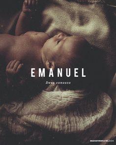 """""""A virgem ficará grávida e dará à luz um filho e lhe chamarão Emanuel"""" que significa """"Deus conosco"""". Mateus 1:23  #Emanuel #feliznatal () maisoverflow.com  X"""
