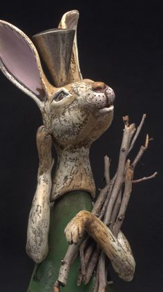 Lisa Naples Ceramics (sculpture and pottery) The Immortal Hare