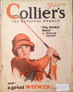 Collier's Magazine May 1926 Lady Golfer Cover