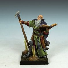 Severus, Battle Wizard from Enigma Miniatures, painted by the amazing Jessica Rich