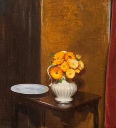 Still Life with Marigolds, 1919 by Sir William Nicholson (English 1872-1949)