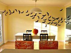 DIY Flying Bats: Create a flock of flying bats in minutes.  #Halloween #craft