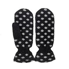 My design inspiration: Heat Me Dots Gloves Black on Fab. $42, mostly wool