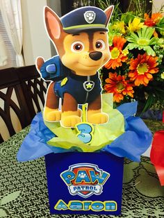 Paw patrol inspired Centerpieces all 8 characters-paw patrol birthday-paw centerpieces- Paw Patrol Birthday Decorations, Paw Patrol Birthday Theme, Paw Patrol Centerpieces, 2 Birthday, 4th Birthday Parties, Paw Patrol Cake, Paw Patrol Pinata, Party Themes, Party Ideas