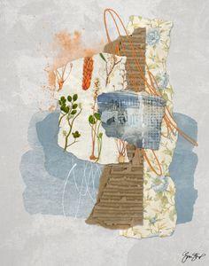 Collage mixed media created using both digital and traditional tools. - GinaStartup