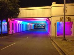 Enchanting Alabama Underpass Filled with LED Rainbow Lights | Wave Avenue