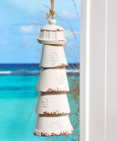 Another great find on #zulily! White Hanging Lighthouse Décor #zulilyfinds