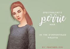 The Sims 4 CC || feather-sim || spectralcat's Perrie hair recoloured
