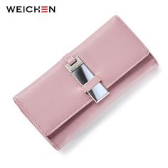 WEICHEN New Fashion Clutch Wallet for Women Carteira Lady Clutch Coin Purse Card Holder Phone Pocket Hasp Long Wallets Bolsas -- This is an AliExpress affiliate pin.  Click the VISIT button to view the details on AliExpress website