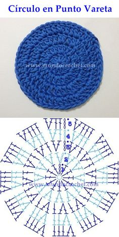 Como Tejer Un Circulo Perfecto A Crochet - Diy Crafts Crochet Motifs, Crochet Diagram, Crochet Stitches Patterns, Crochet Round, Crochet Chart, Crochet Squares, Knit Or Crochet, Crochet Designs, Knitting Patterns