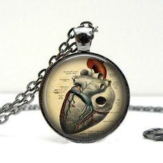Anatomical Heart Necklace.